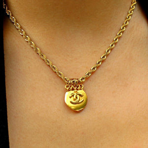 Authentic Chanel Pendant- Repurposed Necklace from Vintage Earrings
