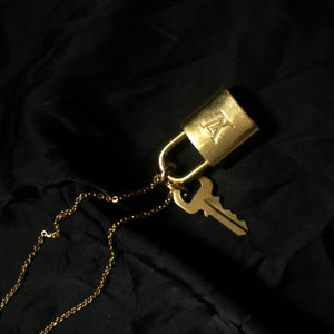 Padlock Necklace with single chain for Him