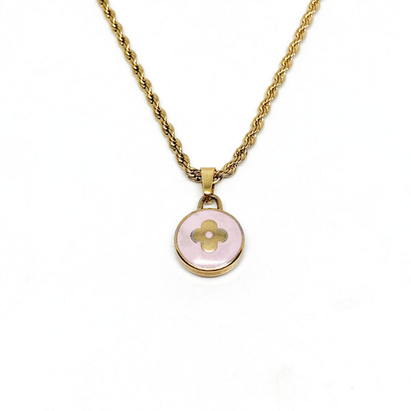 Authentic Louis Vuitton Purple Pendant- Necklace - Boutique SecondLife