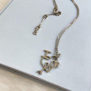 Authentic Christian Dior 'I Love Dior' Heart Necklace