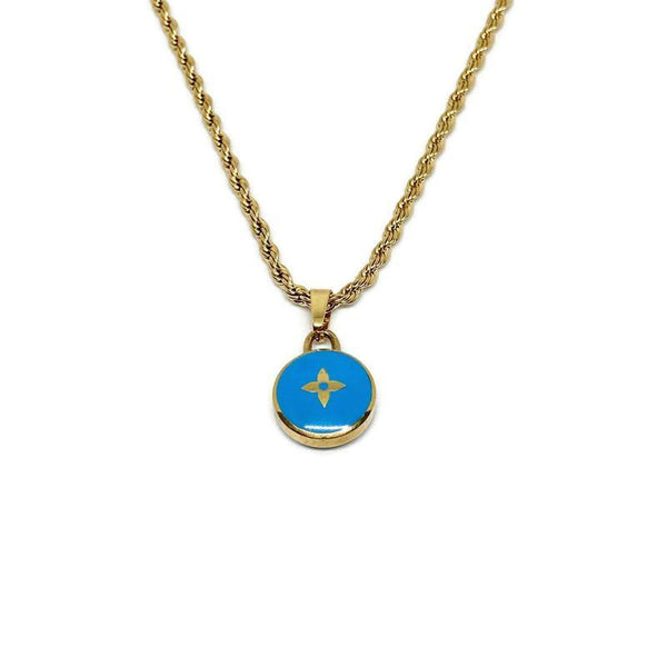 Authentic Louis Vuitton Blue Pendant- Necklace Pastilles Pendant - Boutique SecondLife