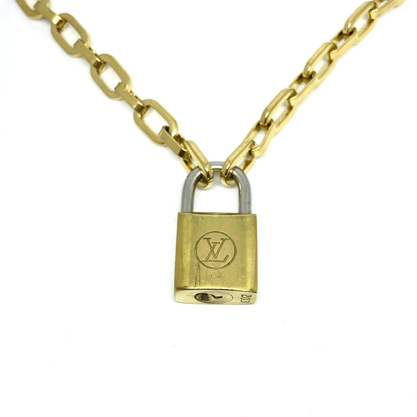 Limited Edition Vintage Louis Vuitton Padlock Necklace