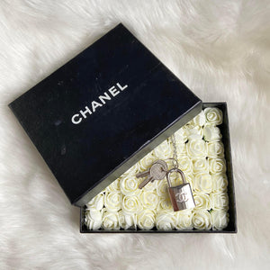 GIFT COLLECTION-Authentic Chanel Silver Padlock