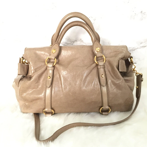 Miu Miu Bag Authentic Bow Beige
