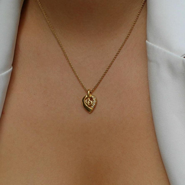 Authentic  Heart Dior Pendant- Necklace