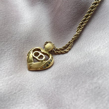 Load image into Gallery viewer, Authentic Christian Dior 'CD' Heart Pendant  -Necklace - Boutique SecondLife