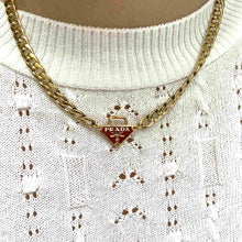 Load image into Gallery viewer, Repurposed Authentic Prada Red tag Special Edition - Necklace