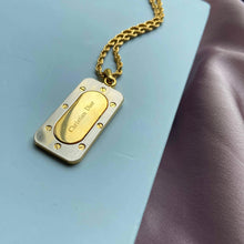 Load image into Gallery viewer, Authentic Christian Dior Tag Bicolor Pendant  -Necklace