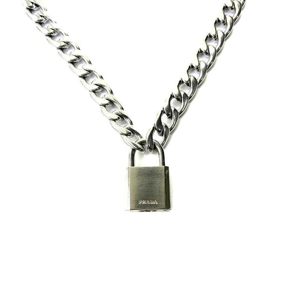 Authentic Prada Lock-Necklace