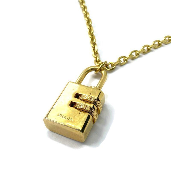 Authentic Prada Padlock-Necklace