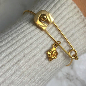 Bracelet Pin Thin with Authentic Pendant