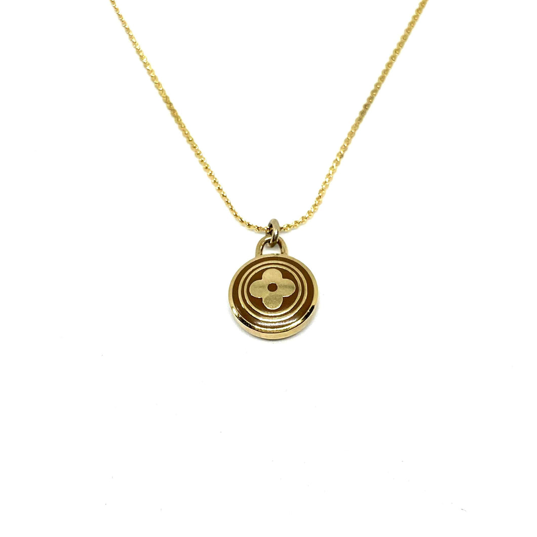Authentic Louis Vuitton Siena Flower Pendant Necklace