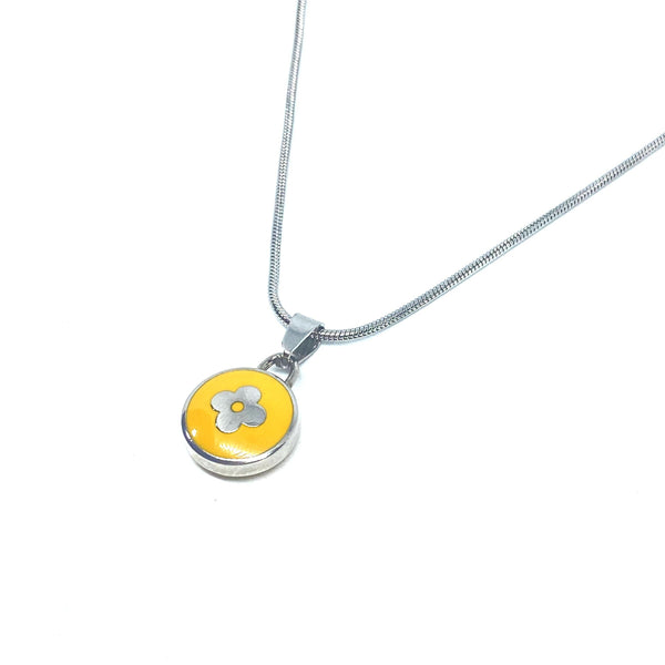 Authentic Louis Vuitton Yellow Pendant Reworked Necklace