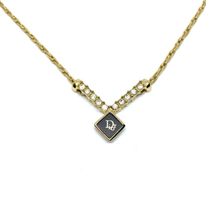 Authentic Dior CD  Square Vintage Necklace