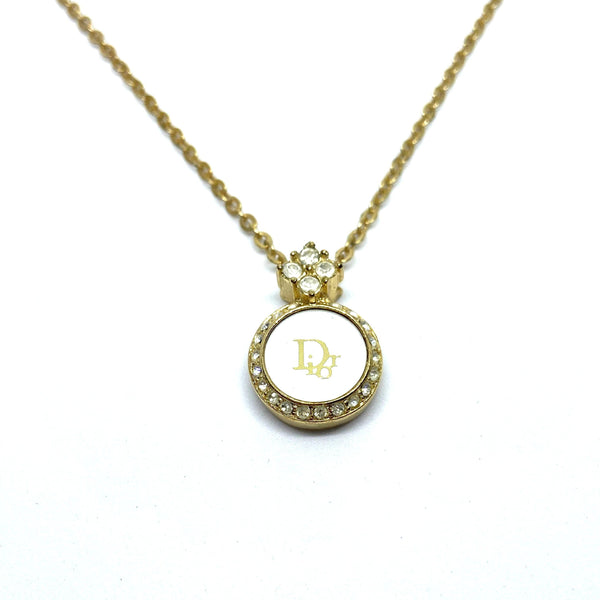 Authentic Christian Dior round White Vintage Necklace