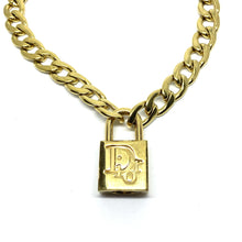Load image into Gallery viewer, Authentic Christian Dior Padlock - Necklace