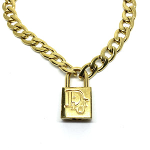Authentic Christian Dior Padlock - Necklace