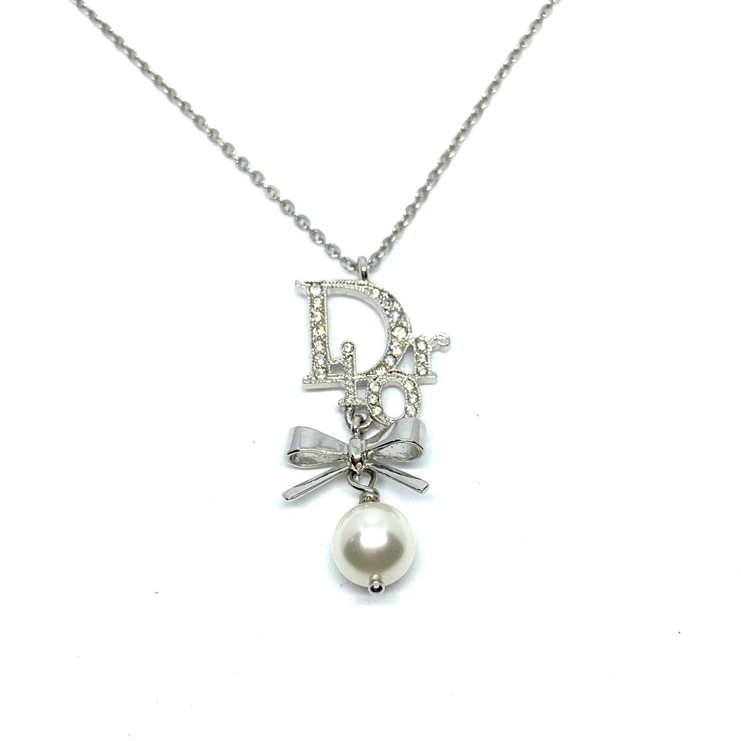 Authentic Christian Dior Bow Vintage Necklace