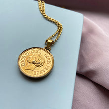 Load image into Gallery viewer, Authentic Coin Pendant- Repurposed Necklace From Bracelet - Boutique SecondLife