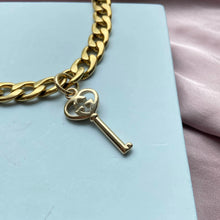 Load image into Gallery viewer, Repurposed Gucci Pendant Heart Key