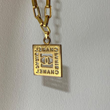 Load image into Gallery viewer, Authentic Square Pendant- Repurposed Necklace From Bracelet - Boutique SecondLife