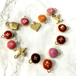 Authentic Louis Vuitton Red Pendant Pastilles Roses