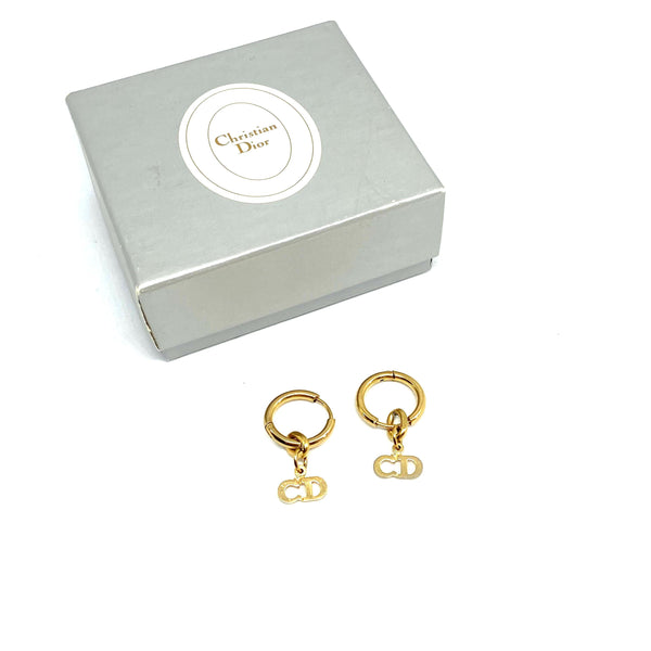 Gift Edition - Authentic Christian Dior tag Repurposed Earrings