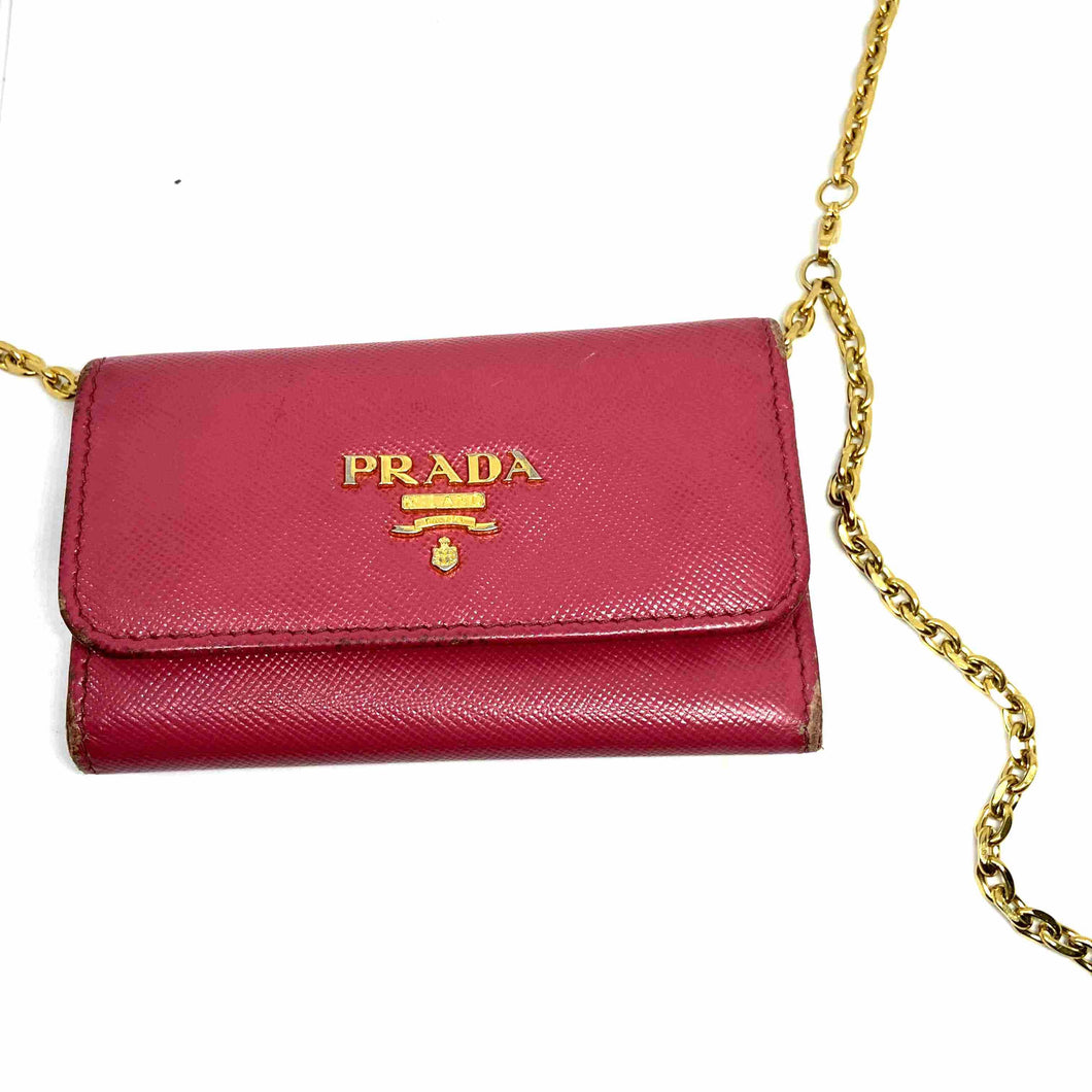 Gift Edition - Authentic Preowned Prada Key Case Repurposed Waist Belt - Boutique SecondLife