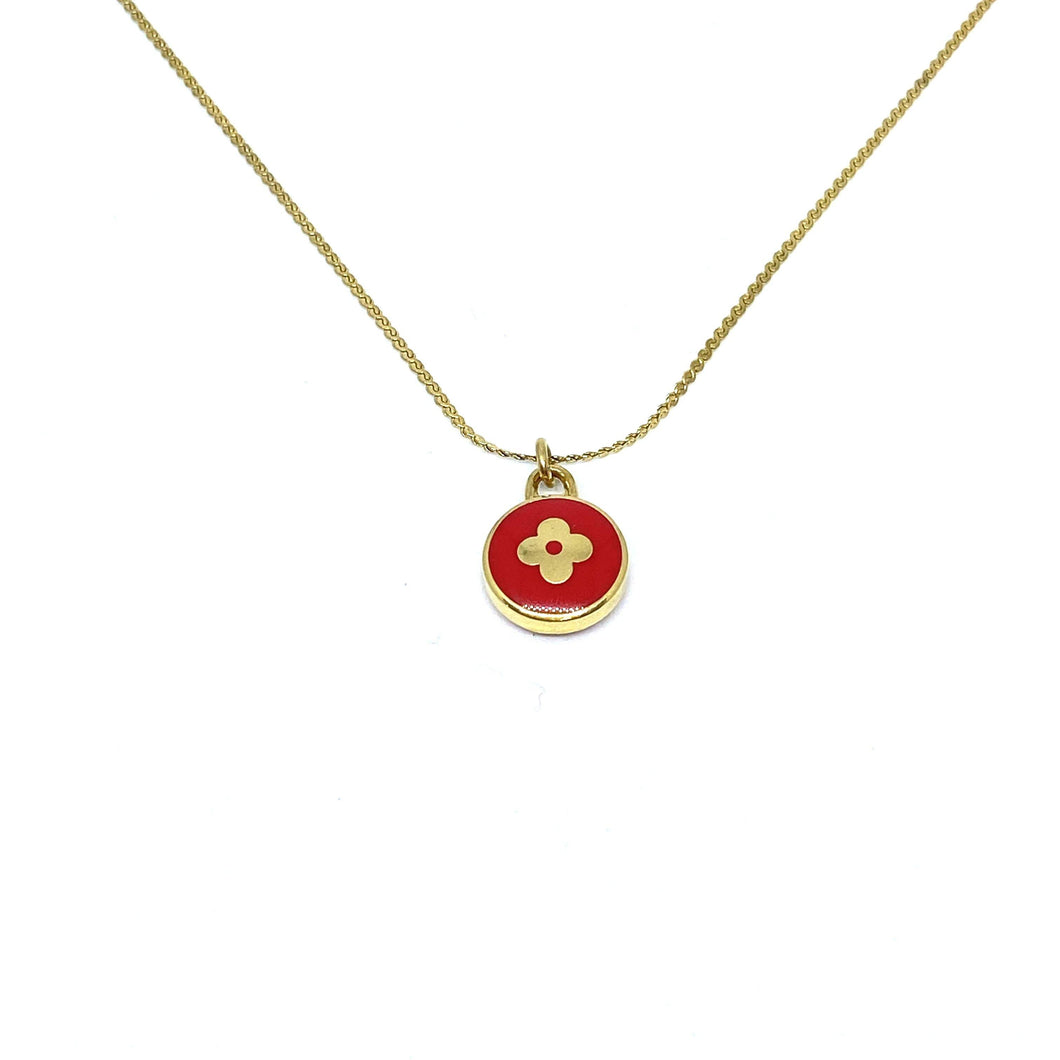 Authentic Louis Vuitton Red Pendant Pastilles Roses - Boutique SecondLife