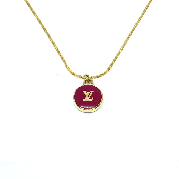 Authentic Louis Vuitton Logo Pendant Pastilles Roses