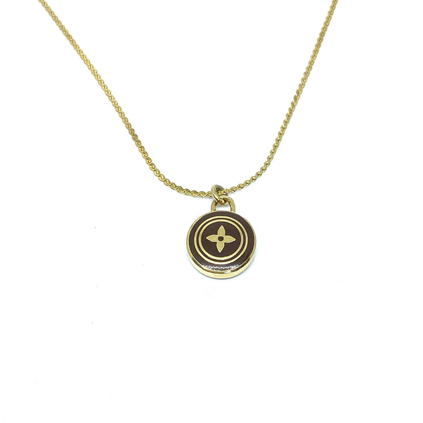 Authentic Louis Vuitton Chocolate Pendant Necklace - Boutique SecondLife