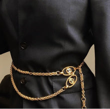 Load image into Gallery viewer, Waist Chain Belt Double Strand- Repurposed From Belt