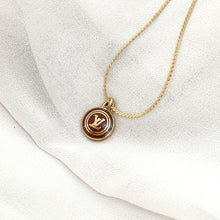 Load image into Gallery viewer, Authentic Louis Vuitton Logo Chocolate Pendant Necklace