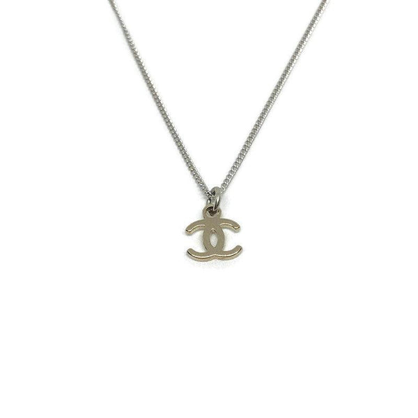 Authentic Mini Chanel CC pendant Re-purposed Necklace