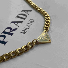 Load image into Gallery viewer, Repurposed Authentic Prada tag - Necklace