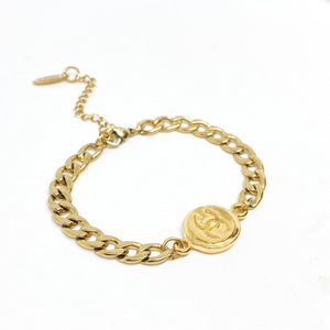 Authentic Chanel Pendant- Repurposed Bracelet