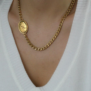Gift Edition - Authentic Chanel Pendant- Asymmetrical Necklace