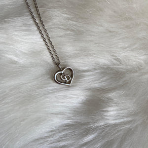 Authentic Dior CD heart Vintage Necklace
