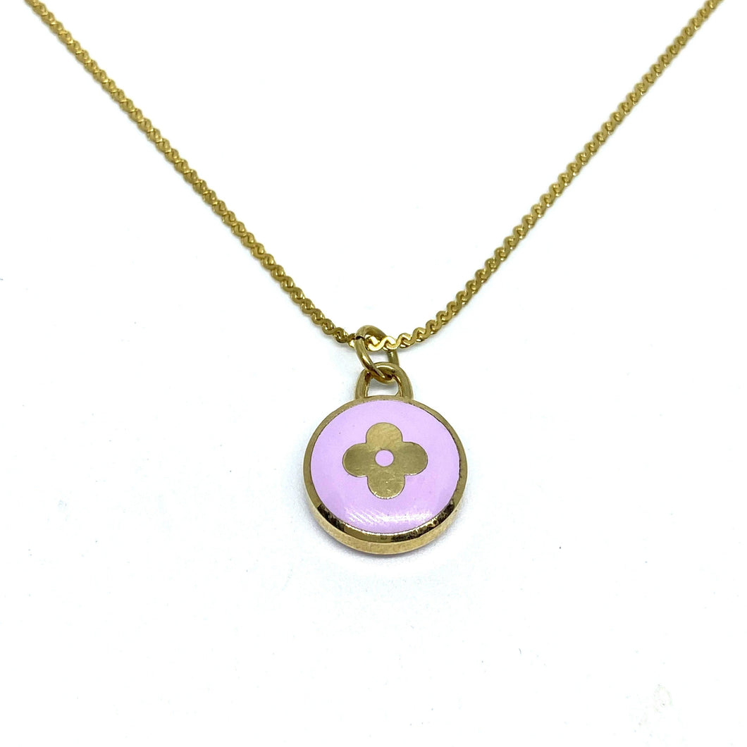 Authentic Louis Vuitton Purple Pendant- Necklace