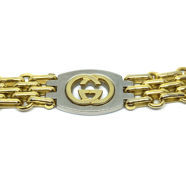 Repurposed Gucci Pendant- Bracelet