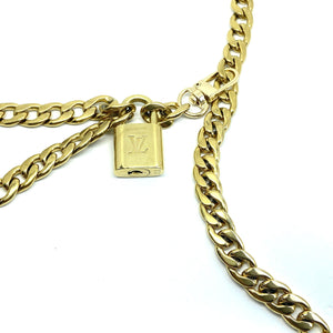Waist Chain Belt Double Strand with Padlock-NO KEY