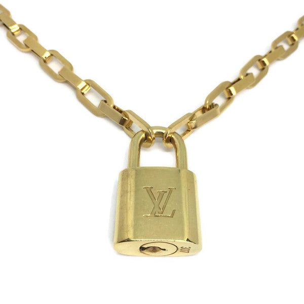 Louis Vuitton Padlock with Geometric Link Chain Necklace