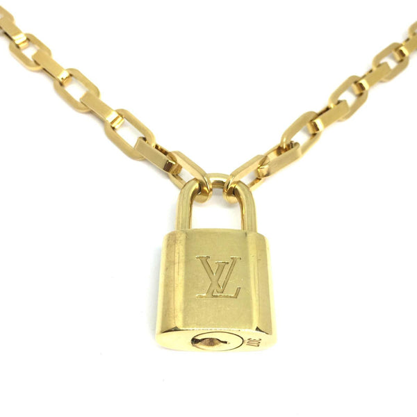 Padlock Geometric Link Necklace NO KEY
