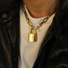 Load image into Gallery viewer, Louis Vuitton Padlock with Geometric Necklace Bracelet Key Set For Him