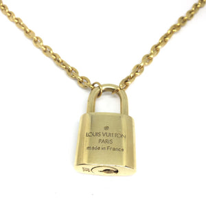 Louis Vuitton Padlock with Rolo Chain Necklace