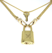 Load image into Gallery viewer, Louis Vuitton Padlock Necklace with Double Chain