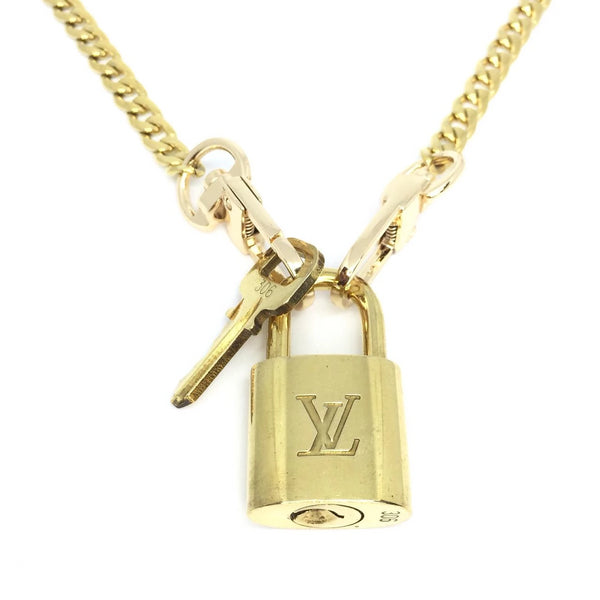 Padlock with Key Necklace with cuban chain