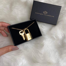 Load image into Gallery viewer, Louis Vuitton Padlock Necklace with Single Chain