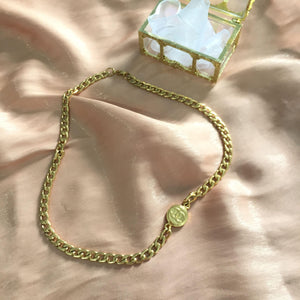 Holiday Collection: Choker Asymmetric with Authentic Pendant