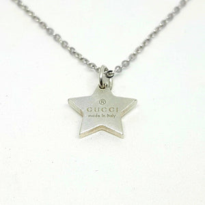 Repurposed Gucci Pendant Start Necklace